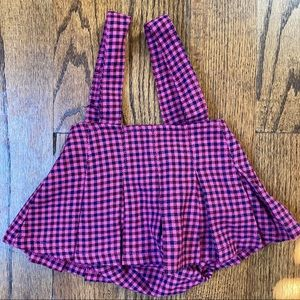 3for$15 The Children's Place Plaid Skirt Overalls